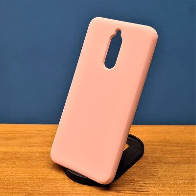 Накладка для Redmi 8 Silicone Cover Sand Pink
