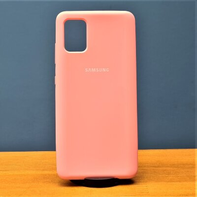 Накладка для Samsung A51 Silicone Cover Pink