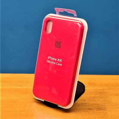 Накладка для iPhone Xr Silicone Cover Red