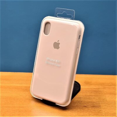 Накладка для iPhone Xr Silicone Cover Beige