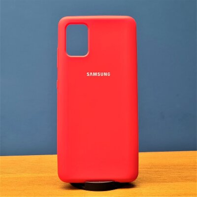 Накладка для Samsung A51 Silicone Cover Red