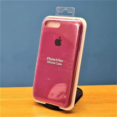 Накладка для iPhone 7/8 Plus Silicone Cover Rose Red