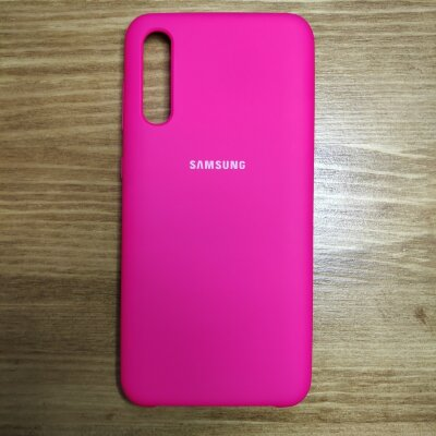 Накладка для Samsung A50 Silicone Cover Red