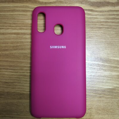 Накладка для Samsung A30 Silicone Cover Rose Red