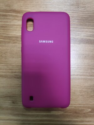 Накладка для Samsung A10 Silicone Cover Rose Red