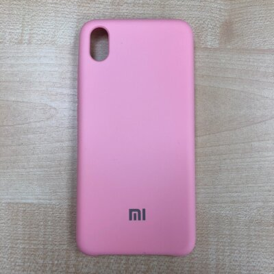 Накладка для Xiaomi Redmi 7A Silicone Cover Light Pink