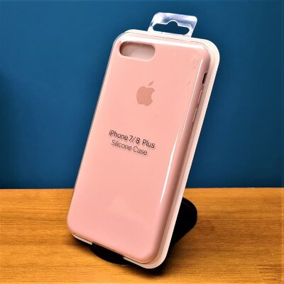 Накладка для iPhone 7/8 Plus Silicone Cover Sand Pink