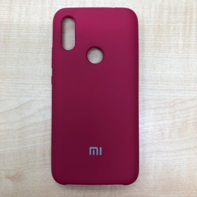 Накладка для Xiaomi Redmi 7 Mi Silicone Cover Rose Red