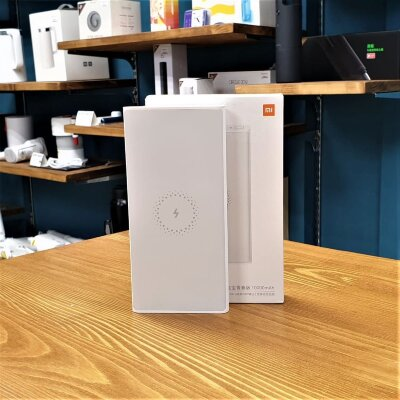 Внешний аккумулятор USB Xiaomi Mi Wireless Power Bank Youth 10000mAh White (WPB15ZM)