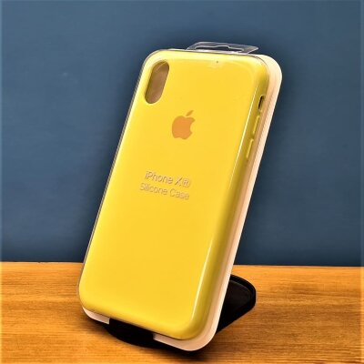 Накладка для iPhone XR Silicone Cover Yellow