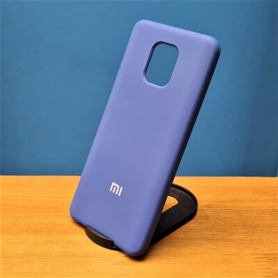 Накладка для Xiaomi Redmi Note 9 PRO/Note 9s Silicone Cover Blue